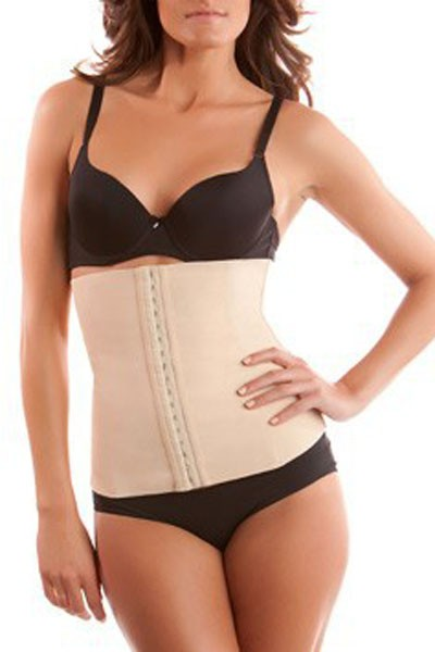 4 Steel Bones Latex Apricot Under Bust Corset