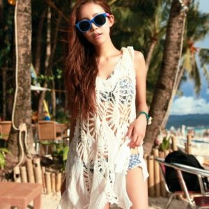 Crocheted beach cover dress