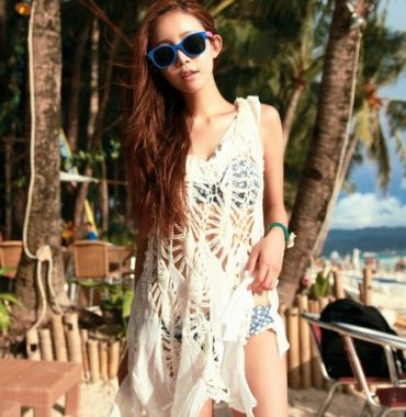 Crocheted beach cover dress