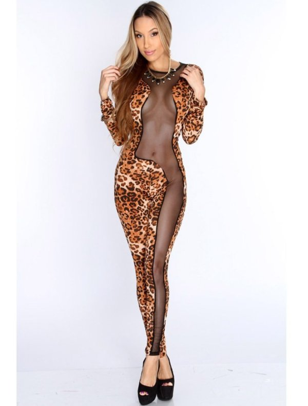Fashion Leopard jumpsuits