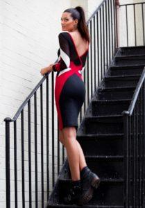 Mesh Panelled Bodycon Dress