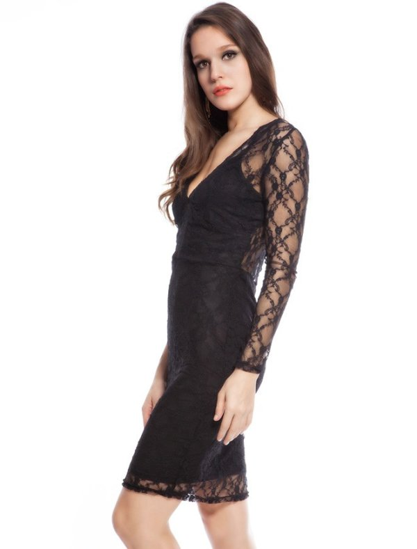 Lace lined dress