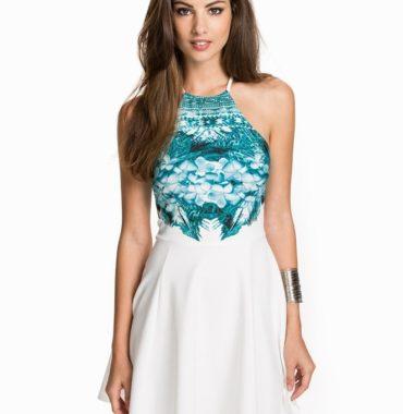 Printed Top Skater Dress
