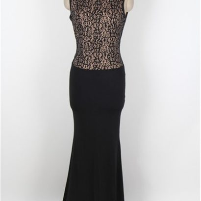 Plus Size Sexy Long Black Mermaid Prom Dress