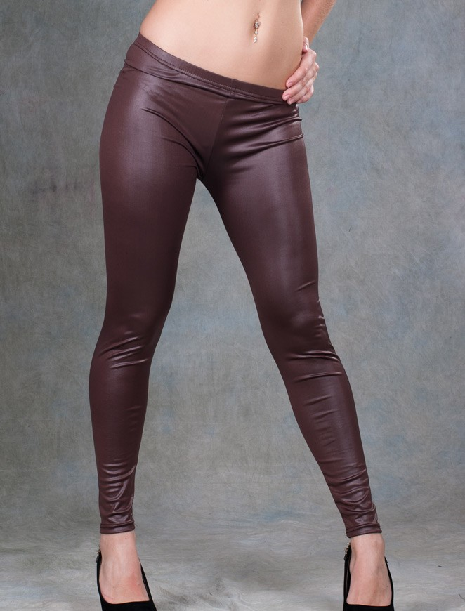 Plus size brown color leggings