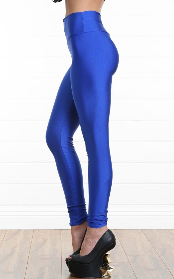 Zip high waist leggings